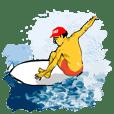 SURFキャップの男