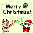 Santa and Reindeer~Christmas stickers~