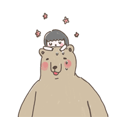 咻咻熊與小女孩