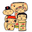 Private talk of the kokeshi doll