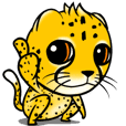 Funny little cheetah