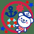 Marine bear : Tricolor color