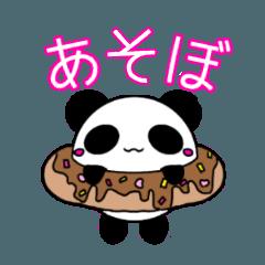 Cute sweet panda sticker