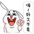 New Funny Rabbit message stickers
