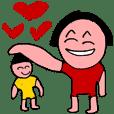 クレヨン子供と子供の描画スケッチブック