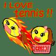 テニス部の為のスタンプ