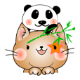 ねこ×3 ひよこ(マイペース) パンダ