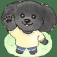 まるっこ犬 トイプードル(ブラック)
