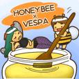 ミツバチとスズメバチスタンプ