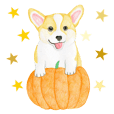 Happy Halloween Corgi Sticker