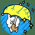 雨の日を楽しく過ごせる!うさぎスタンプ
