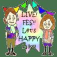 LIVE!FES!!日常スタンプ