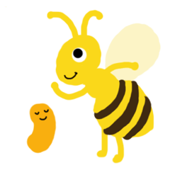 Honey bee&larva