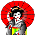 Japanese dancing girl  Geisha