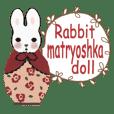 Bunny matryoshka doll