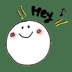 もちまるくん☆毎日使えるスタンプ【英語】