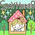 コロナウイルス感染予防。STAY HOME♡
