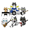 CAT BAND Stickers
