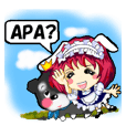 Cute maid and dog ver.Indonesian
