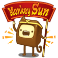 Funny life of the toy Monkey Sun