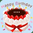 名前入りお誕生日ケーキ(名前の変更は可能)