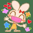 Cheerful rabbit MIMIMI