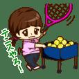 テニスやってるよ!