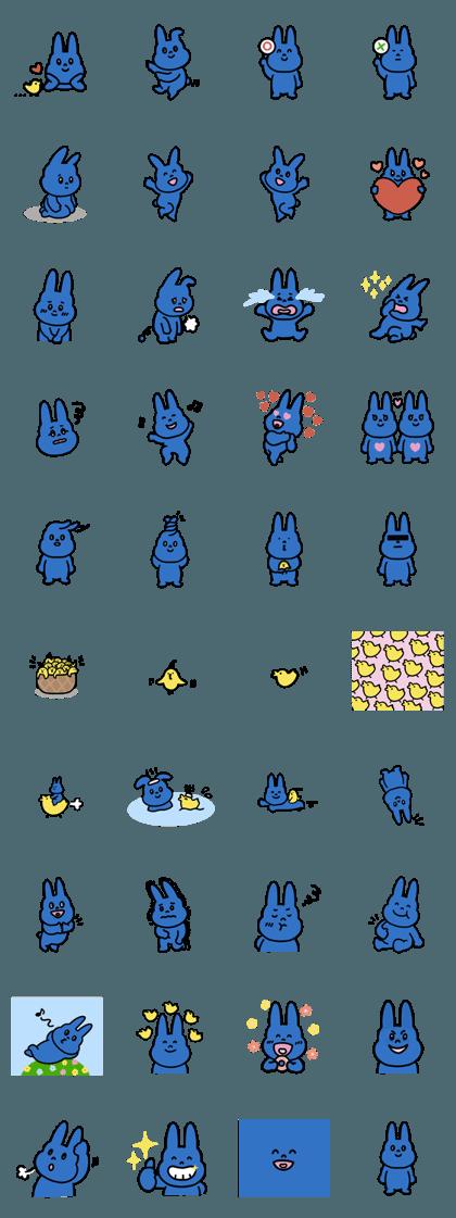 cute blue rabbit 2