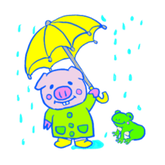 ぶたのPちゃんスタンプ(日常系)1