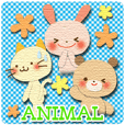 Cute Animal Sticker (Cat, Bear,Rabbit)