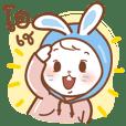 Zhanzhan rabbit hood