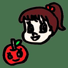えりちゃんとりんご