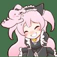 Fluffy pink tails momotyan