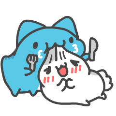 貓貓蟲咖波與兔兔-愛閃閃