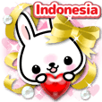 Kelinci 3D stiker 2 ( Indonesia )