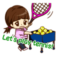We play TENNIS!(English ver.)