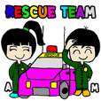 RESCUE TEAM STICKER