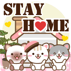 Natural animals, happy stay home english
