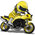 The Happy Yellow Motorcycle