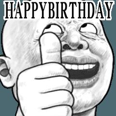 Moving skinhead 28 celebration Sticker
