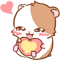 cute hamster an emoticon line stickers line store