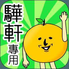 【驊軒】專用 名字貼圖 橘子