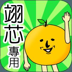【翊芯】專用 名字貼圖 橘子