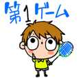 Stickers of badminton