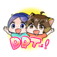 Dragon & Tiger Friendship Sticker