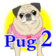 Pug dog Sticker vol.2