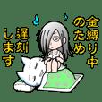 Cute Ghost Girl Sticker