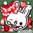 kelinci 3D stiker ( Indonesia )