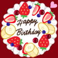 Delicious cake animated stickers4