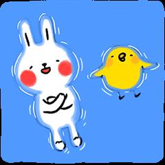 懶散兔與啾先生: 夏日小劇場